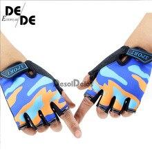 Fingerless Kids Gloves Non-Slip Ultrathin Children Half Finger Breathable For Boys Girls Luvas De inverno.