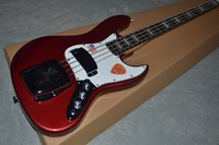 Free shipping Factory custom JAZZ bass 4 strings with metal red color electric bass guitar musical instrument shop.