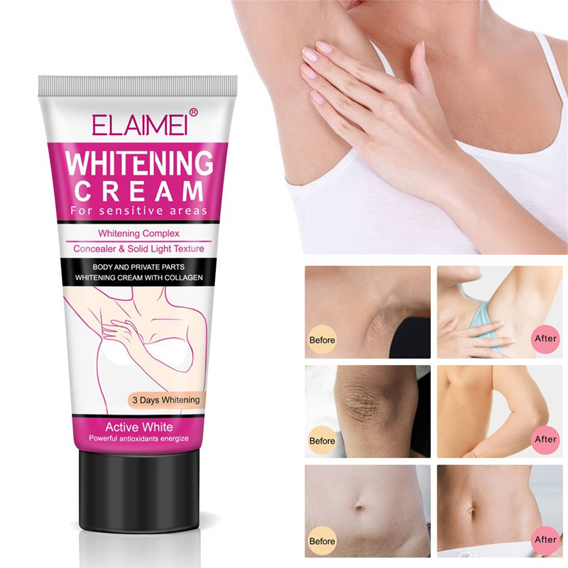 60ml Underarm Whitening Cream Body Armpit Whitening Cream Lotion Legs Knees Private Parts Whitening Cream Skin Care Cosmetic 1