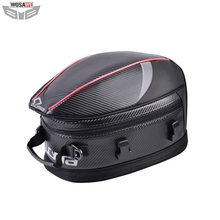 все цены на CUCYMA 55L Motorcycle Tail Bags Carbon Fiber Waterproof Motocross Motorbike Helmet Bags Travel Luggage MOTO Rear Seat Bag онлайн