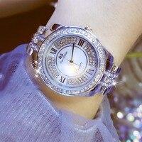 Hot Sale Famous Brand Bling Watch Women Luxury Austrian Crystal Bracelet Watch Gold Shinning Diomand Rhinestone Bangle Bracelet