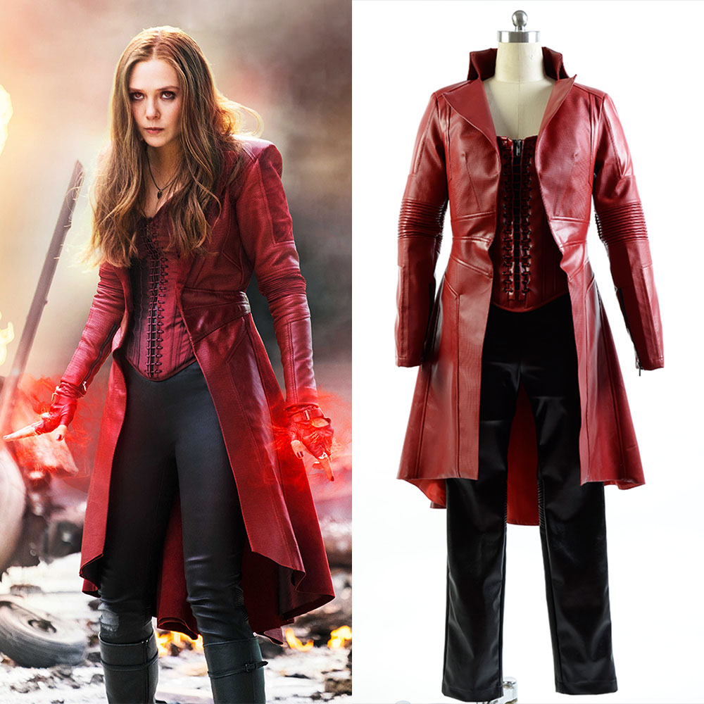Cosplay Captain America 3 Guerra Civile Scarlet Witch Wanda Full Sets Uniform Costume Halloween Carnival Women Costume