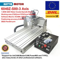 EU/DE Delivery!!! Desktop 3 axis 6040 1500W LPT Port MACH3 CNC Router Engrave/Engraving Drilling and Milling Machine 220VAC