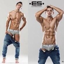 Hot! Men ES Brand Trunk Best Selling Brand Men's Underwear Classic Shorts Top Quality Sexy Men Cuecas Boxer Underwear Men2pc/Lot