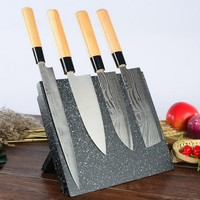2018 NEW Wood Magnetic Knife Holder Collapsible Kitchen Multifunctional Storage Rack Tool Magnet Knife Block Stand Accessories