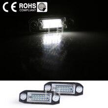 2x araba lisansı Plaka Işıkları Beyaz LED Numarası fit Volvo Için S80 Xc90 S40 v60 S60 V70