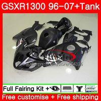 Обтекатели для SUZUKI Hayabusa GSXR1300 96 07 GSXR 1300 96 97 98 99 00 01 42SH15 матовый черный GSX R1300 1996 1997 1998 1999 2001