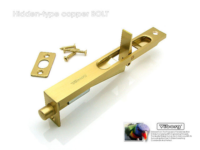 Viborg 20cm 8 Quot Luxury Brass Door Bolt Security Door