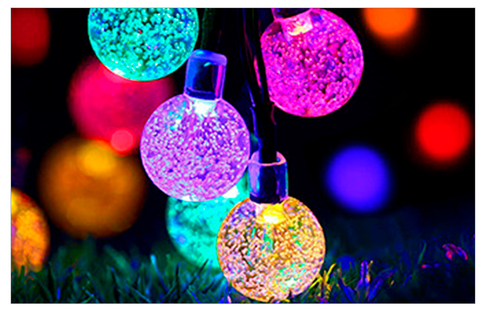 Peach Flower LED Solar Lamp Fairy String Light Outdoor Decoration Holiday Party Lights For Garden Christmas Tree Lawn Landscape (16)