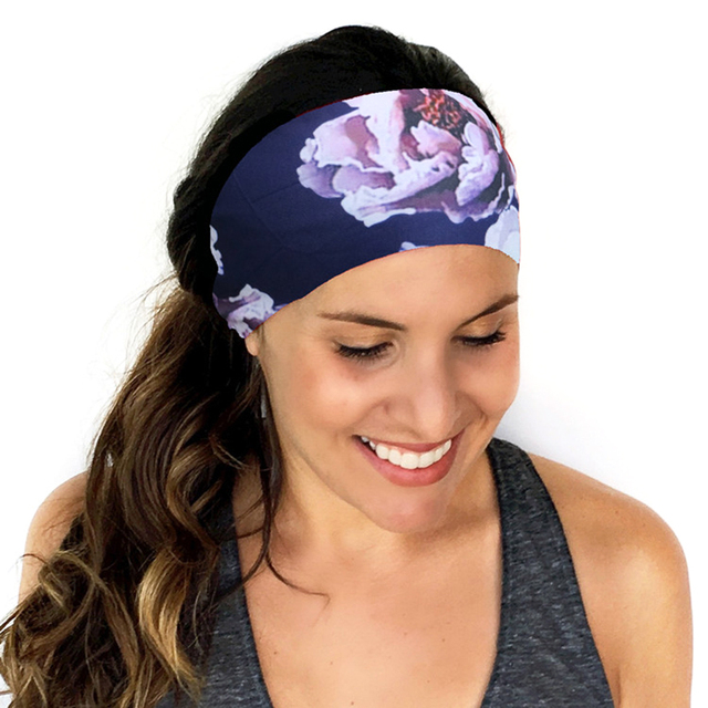 1Pcs Yoga Running Headband Women High Quality Elastic Hairband Stretch  Printing Sport Headbands Female Freeshipping b015ffceb67