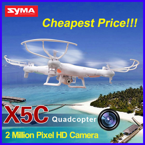 RC Drone With 2.0MP HD Camera SYMA X5C-1 (X5C Upgraded Version) 2.4G 4CH 6-Axis RC Helicopter Quadcopter Ar.Drone VS X400 H8C syma x5 x5c x5c 1 explorers new version without camera transmitter bnf