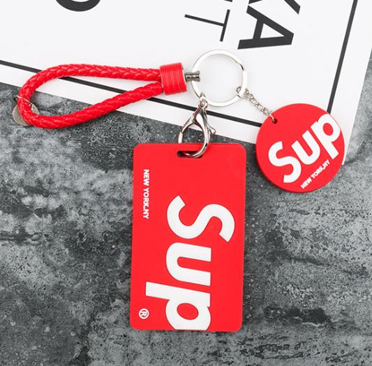 Tide brand couples card set keychain student campus access control card Bus ID Name Pass Card cover Girl Boy Bag Hanging Pendant