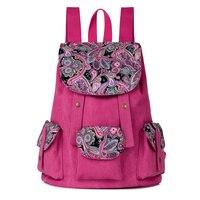 Venta caliente Estampado de Flores Casual Mochila de Lona Del Bolso de Señora Mochila Femenina Bolsas de Hombro Mochila mochilas Escolares