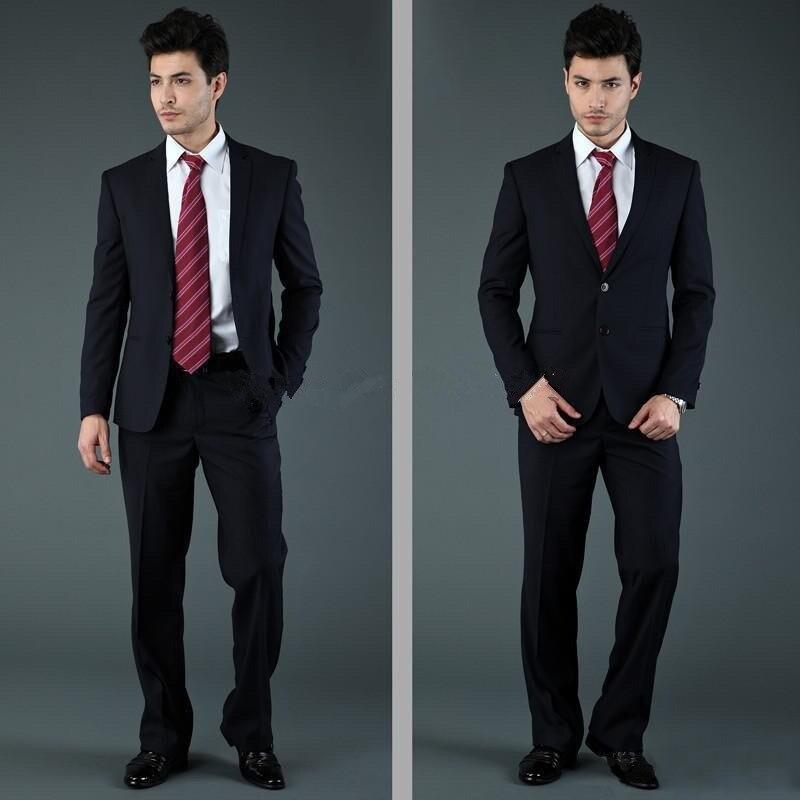 Best selling 2016 brand mannen slim fit suits en smokings voor mannen blauw zwart lichtgrijs twee knop drie stuk jas + broek + tie