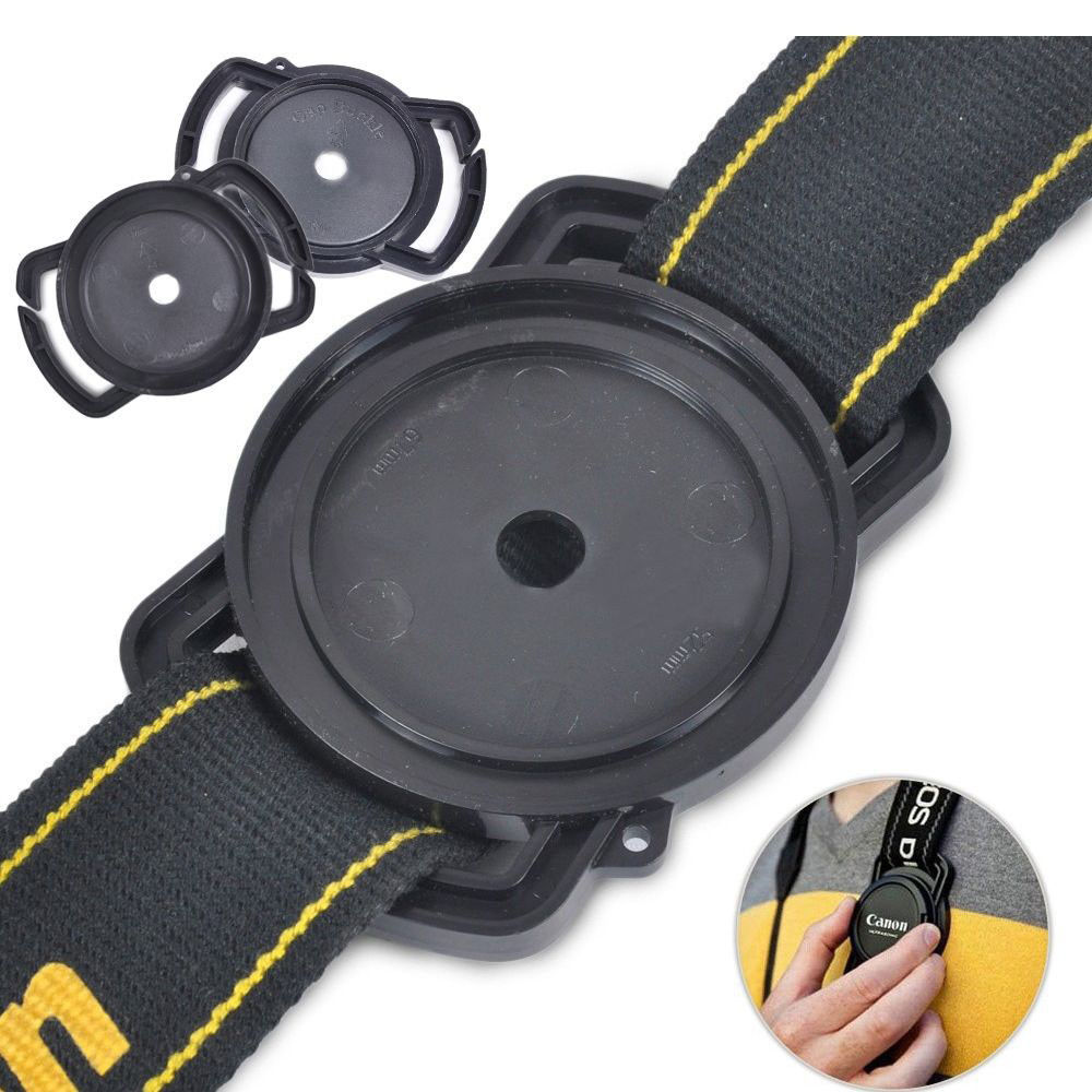 Universal Anti-losing Camera Lens Cap Holder Keeper Buckle On Strap 52mm 67mm 58mm / 43mm 52mm 55mm / 40.5 49mm 62mm / 72 77 82