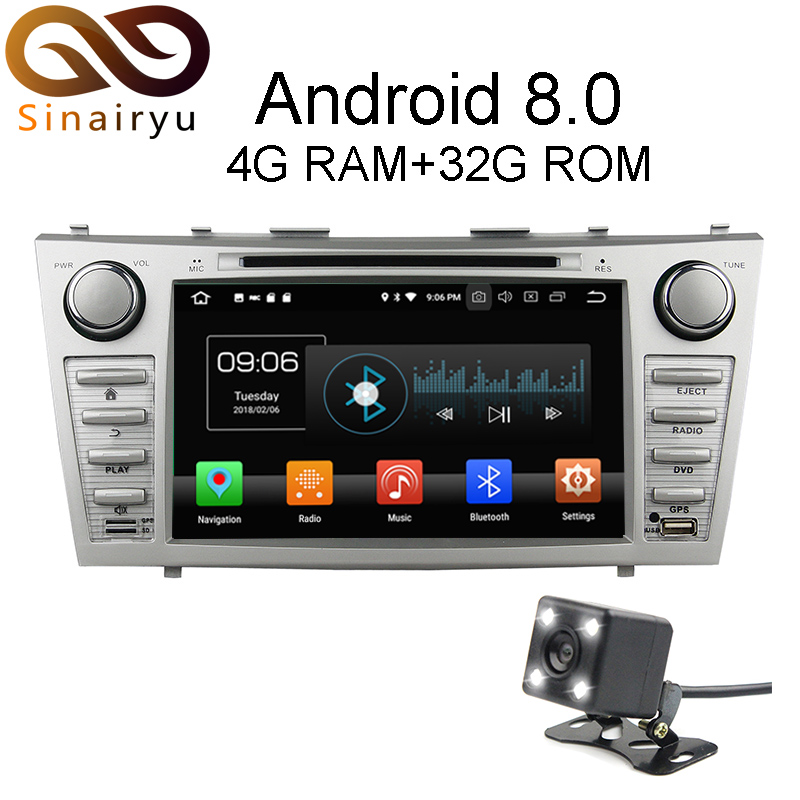 Sinairyu Android 8 0 8 Core 4G RAM Car DVD GPS For Toyota Camry 2006 2007