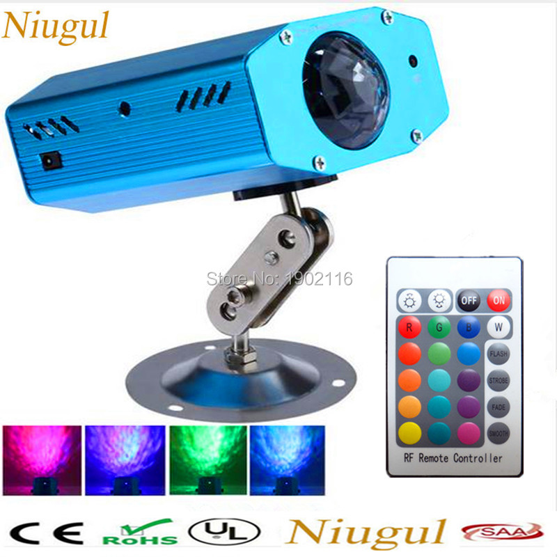 Niugul IR Remote 7 Color Changing Mini LED Water Wave Ripple Effect Stage Light/ Disco d ...