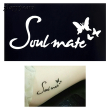 1pc DIY Stencil For Henna Waterproof Tattoo Butterfly Soulmate Word Mehndi Airbrush Body Painting Art Tattoo Template Design G30