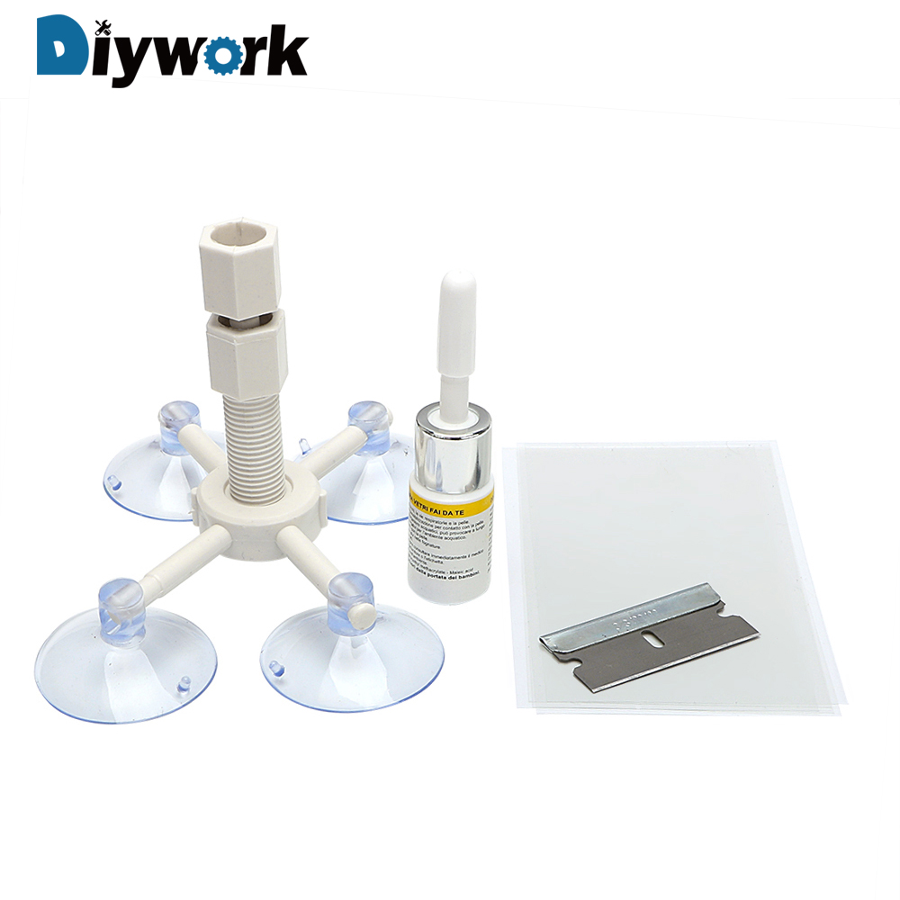DIYWORK Auto Maintenance Sets Car Glass Repair Tool DIY Automobiles Care Windshield Repair Kit Windshield Fillers Adhesives