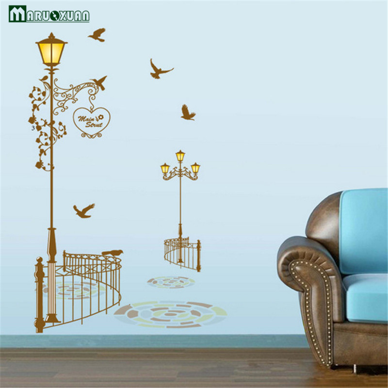 Good City Street Brown Street Wall Stickers Removable Wall Stickers Creative  Wallpaper Shop Decoration Wall Stickers