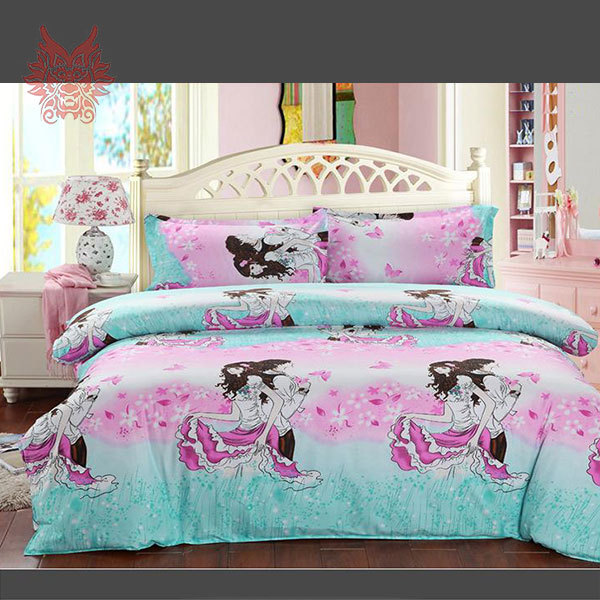 Home Textile Crazy Discount Lovely Cartoon Print Duvet Cover Bed Sheet  Pillowcase4pcs/set SP1551 Twin