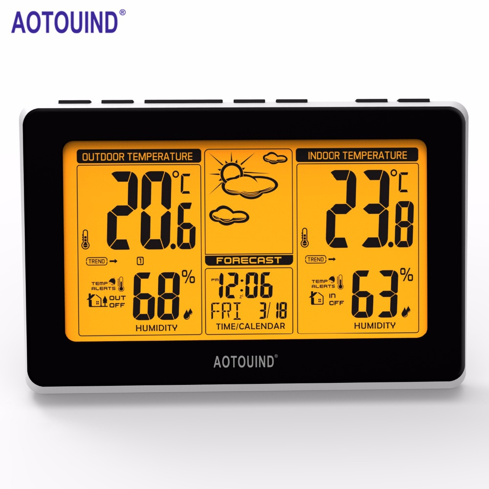 AOTOUIND Professional Wireless Weather Station with Indoor Outdoor ...
