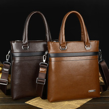 British Style New Men Leather Pad Business Handbags For Man Brand Fashion Men Messenger Bags Men's bags Handbags Of A4 Size Tote
