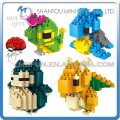 Mini Qute Kawaii 4 estilos WISE muchachos halcón Anime pokemon Dragonite diamante cubo de plástico building blocks figuras juguetes educativos