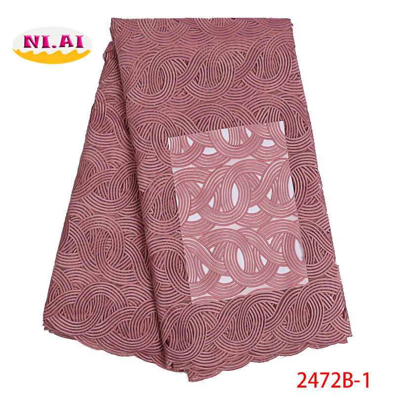 Latest African Cord Lace Fabric New Lace Fabric Blush Pink Lace Appliques Guipure Lace Fabric Dresses