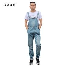 Men's plus size S-5XL overalls Large size huge denim bib pants Fashion pocket jumpsuits Male Free shipping
