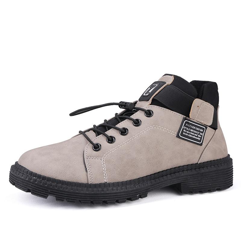 khaki Hommes De black Bottes Militaire Espadrilles L'armée Mode Chaussures Cuir Hiver Confortables Sex3 Combat Gray Cheville Schoenen Mannen En Automne qUVpSzM