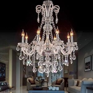 Image 3 - Candelabro de cristal moderno para sala de estar, dormitorio, lámpara de interior, K9, lustre de cristal, lámpara de techo, luces LED