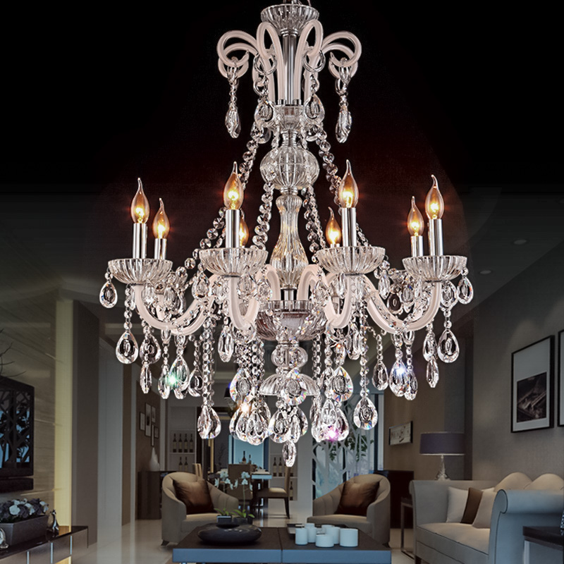 Image 3 - Chandelier Modern crystal chandeliers Livingroom Bedroom indoor lamp K9 crystal lustre de teto ceiling chandelier LED lights-in Chandeliers from Lights & Lighting