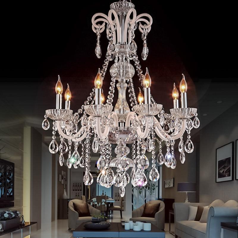 k9 lustres cristal vela villa sala estar lustre