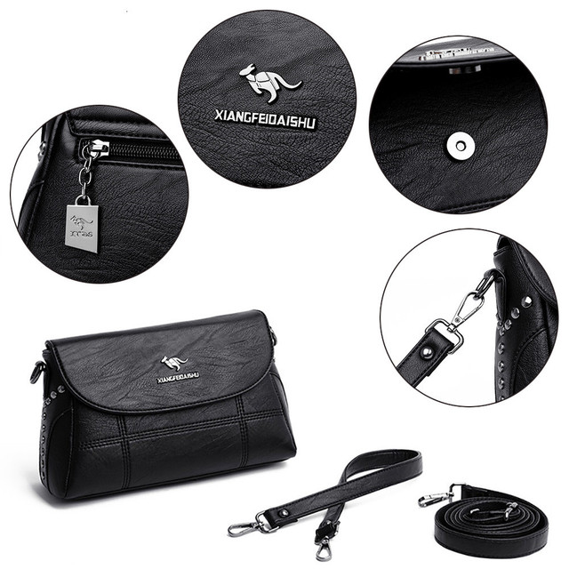 Luxury White Women Messenger Bags Female Leather Handbags Small Crossbody Bag For Women Shoulder Bags Famous Brand Designers New 5