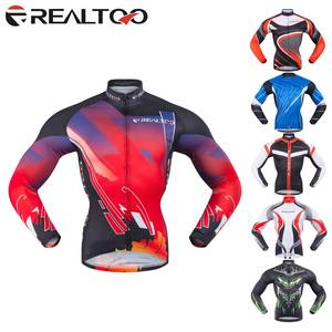REALTOO Men s FULL Sleeve Cycling Jerseys Road Bike Cycling Clothing MTB Bicycle  Jerseys 727bfedfb