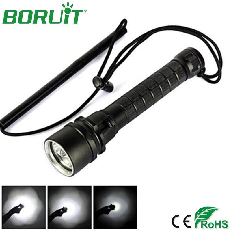 Boruit S1 2000lm XML T6 LED Flashlight Diving 5-Mode Flash Light Scuba Diver Torch Waterproof Camping Hunting Fishing Lantern рекламный щит dz 5 1 j1c 073 led led jndx 1 s c