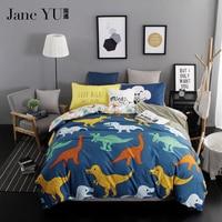 Tencel Fabric Home Textile Dinosaur Bedding Sets 4pcs Set 3D Reactive Printed Bedding Set Bedclothes