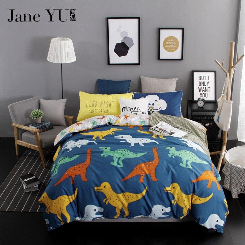 ᗕJaneyu tela textil de hogar dinosaurio Ropa de cama conjuntos 4 ...