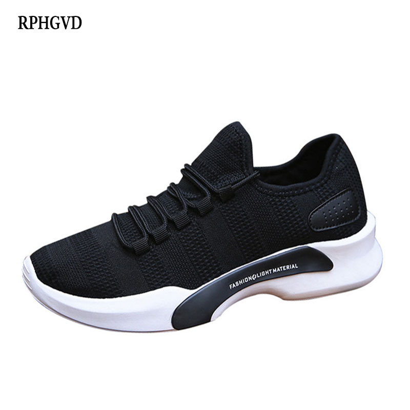 New Trend Casual Shoes Men Breathable Sports Running Men Shoes Solid Color Wild Low Men Single Shoes Sneakers Zapatillas Hombre