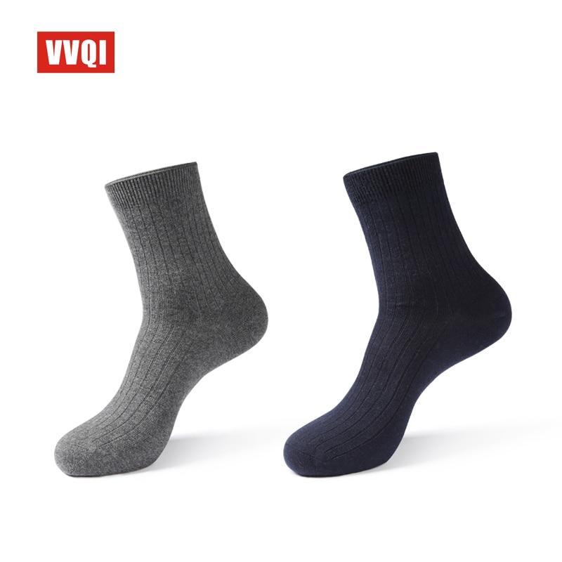 VVQI winter mens socks anti-odour Absorb sweat cotton black business socks 5pairs mens dress socks off white brand socks gift
