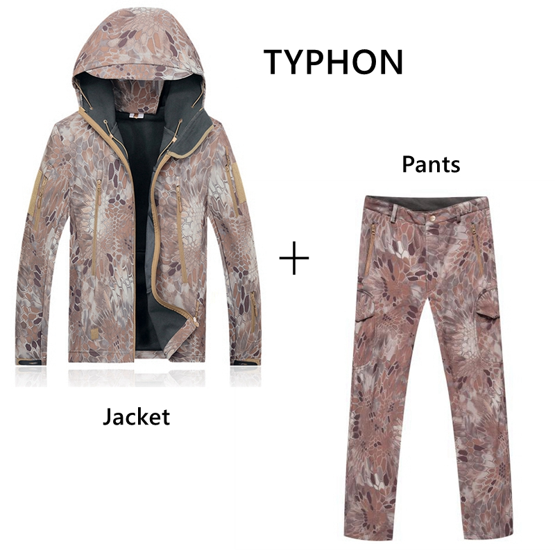Hot Product Military Special Force Army Tactical Uniform Jacket Pants Typhon Camo Outdoor Tad V 4.0 Shark Skin Softshell lurker shark skin soft shell v4 military tactical jacket men waterproof windproof warm coat camouflage hooded camo army clothing