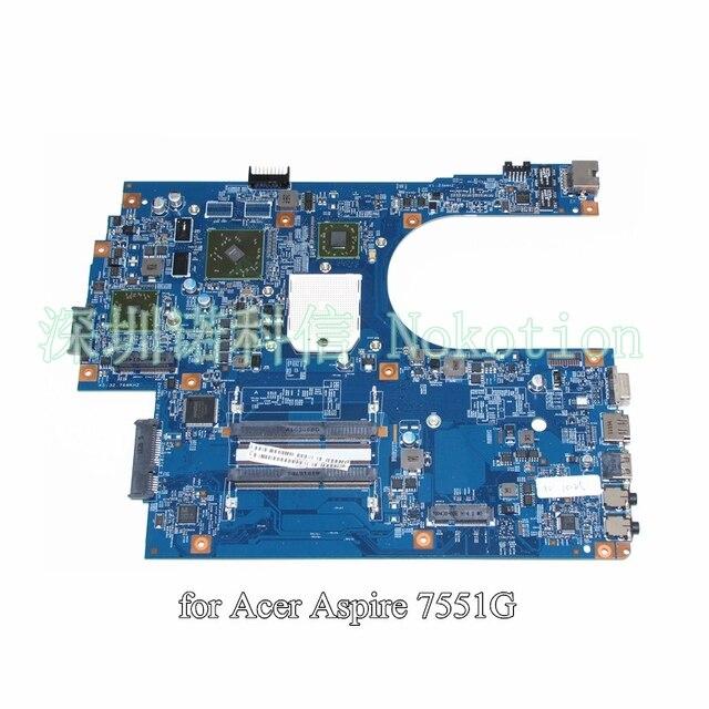 MBPT801001 48.4HP01.011 MB. PT801.001 для acer aspire 7551 7551g ноутбука материнской платы AMD DDR3 HD 5470