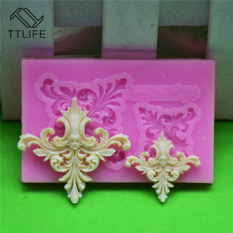 TTLIFE European embossed flower Silicone mold fondant mold cake decorating tools chocolate gumpaste mold moldes para reposteria in Cake Molds from Home Garden