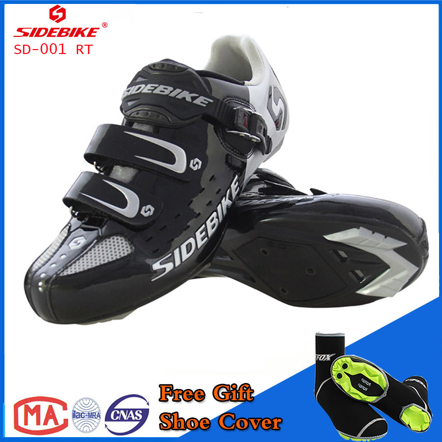 Sidebike Unisex Bicycle Road Cycling Shoes Breathable MTB Non-Slip Road Bike Lock Shoes Zapatillas Ciclismo Bicicleta SD01 Black west biking bike chain wheel 39 53t bicycle crank 170 175mm fit speed 9 mtb road bike cycling bicycle crank
