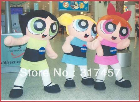 Powerpuff Girl Mascot Costume Adult Character Costume Cosplay Mascot