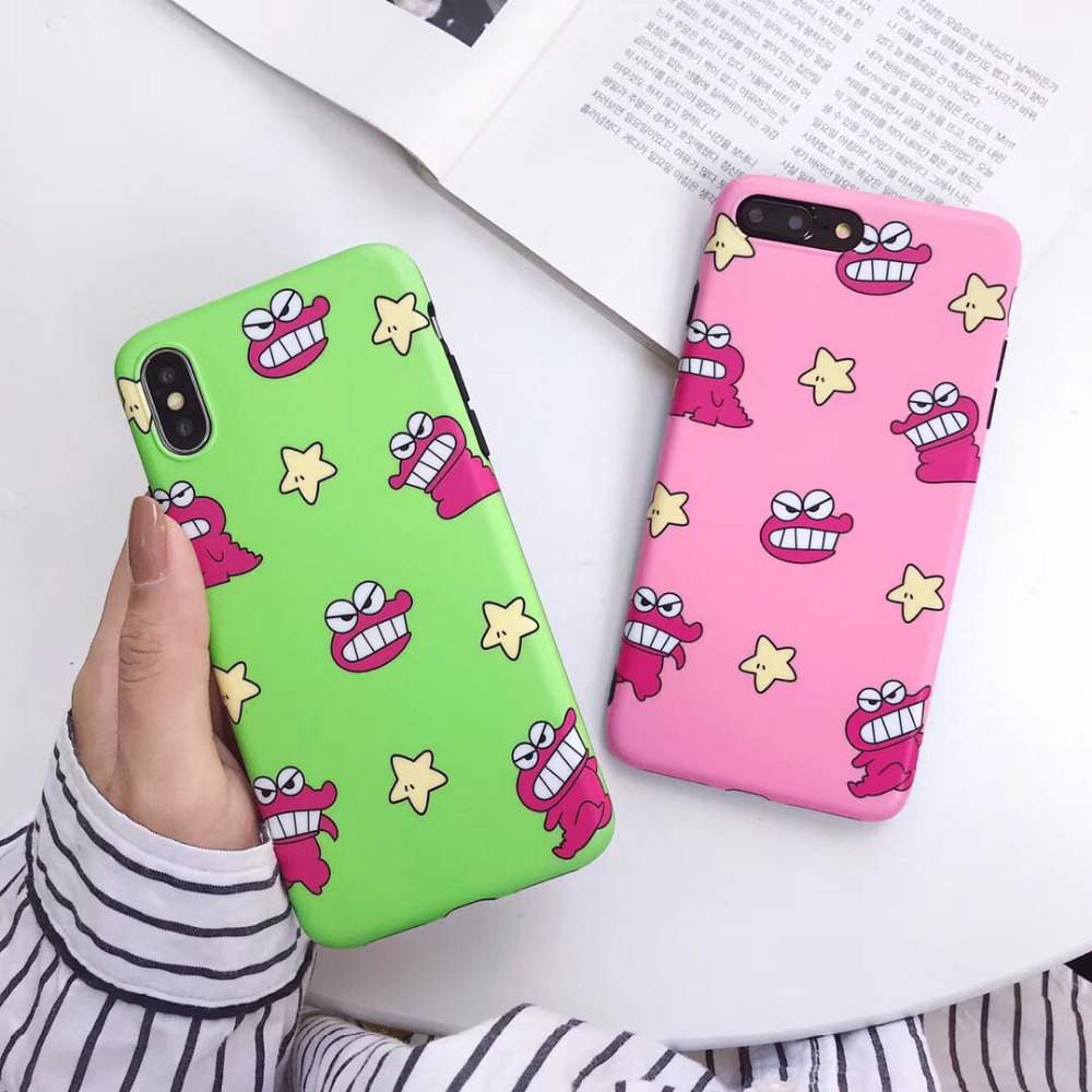 maosenguoji cartoon boy Shinchan <font><b>dinosaur</b></font> Biscuits funny Mobile Phone <font><b>Case</b></font> for <font><b>iphone</b></font> 6 6s 6plus <font><b>7</b></font> 8 plus X XR XS MAX fashion image