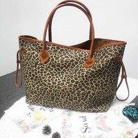 Groothandel Blanks Luipaard Draagtas Cheetah Canvas Handtas Grote Vrouwen Tote DOM103388