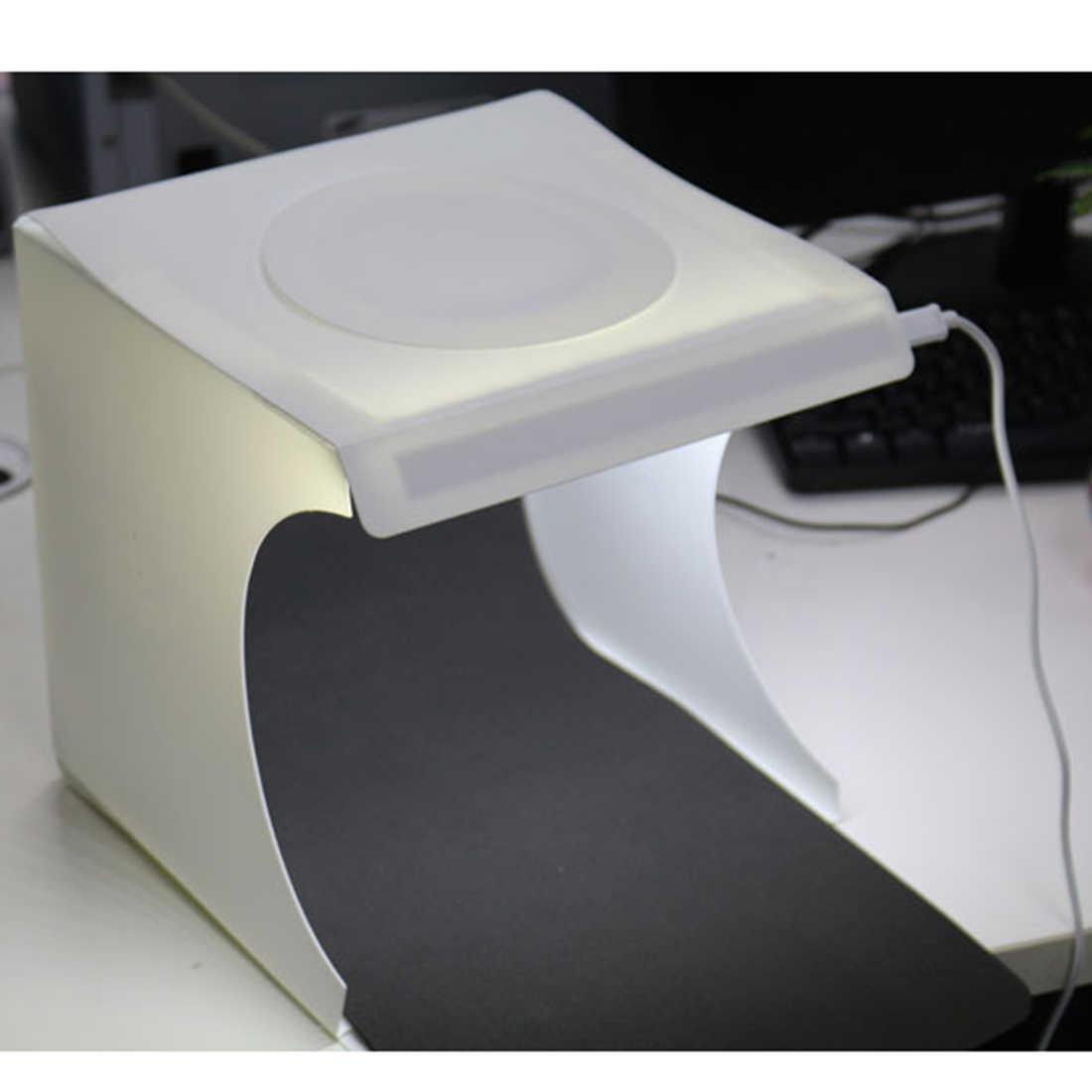 HOBBYINRC складной портативный мини фотостудия настольная съемка с двухрядный свет для фотографа-белый