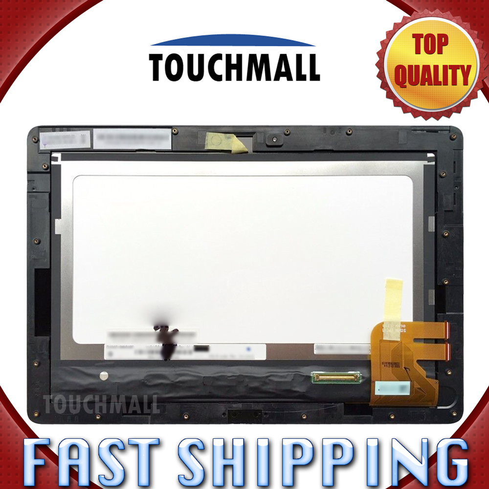 For New LCD Display Touch Screen+Frame Assembly Replacement Asus Transformer Pad TF300 TF300T TF300TG 5158N FPC-1 Free Shipping replacement original touch screen lcd display assembly framefor huawei ascend p7 freeshipping